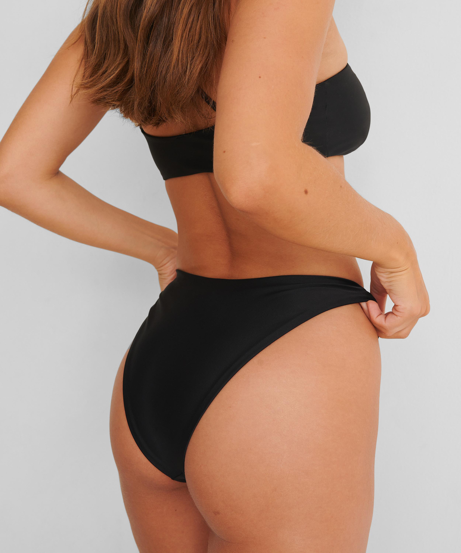 High-cut Rio bikini bottoms HKM x NA-KD, Black, main