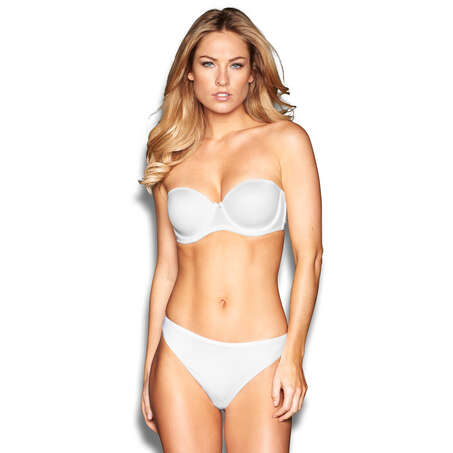 Invisible comfort thong, White