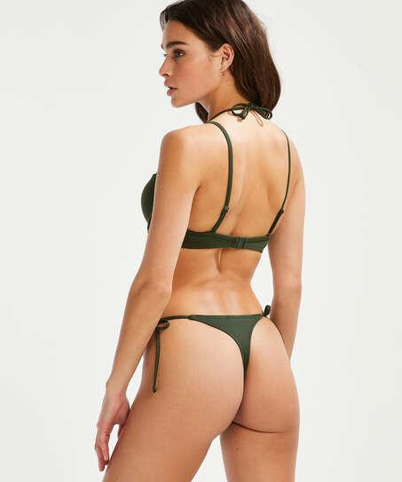 Luxe string bikini shorts, Green