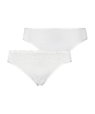 2-pack Angie Knickers, White