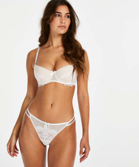 Leyla padded underwired bra, White