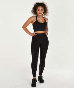HKMX High Waist Seamless Sportlegging Comfort, Black
