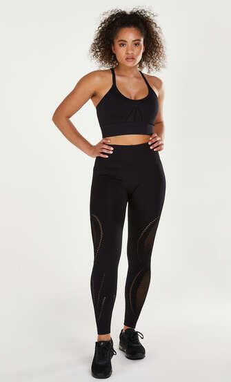 HKMX High Waist Seamless Sportlegging Comfort, Black