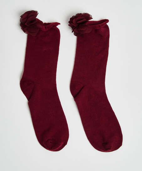 Flower socks, Red