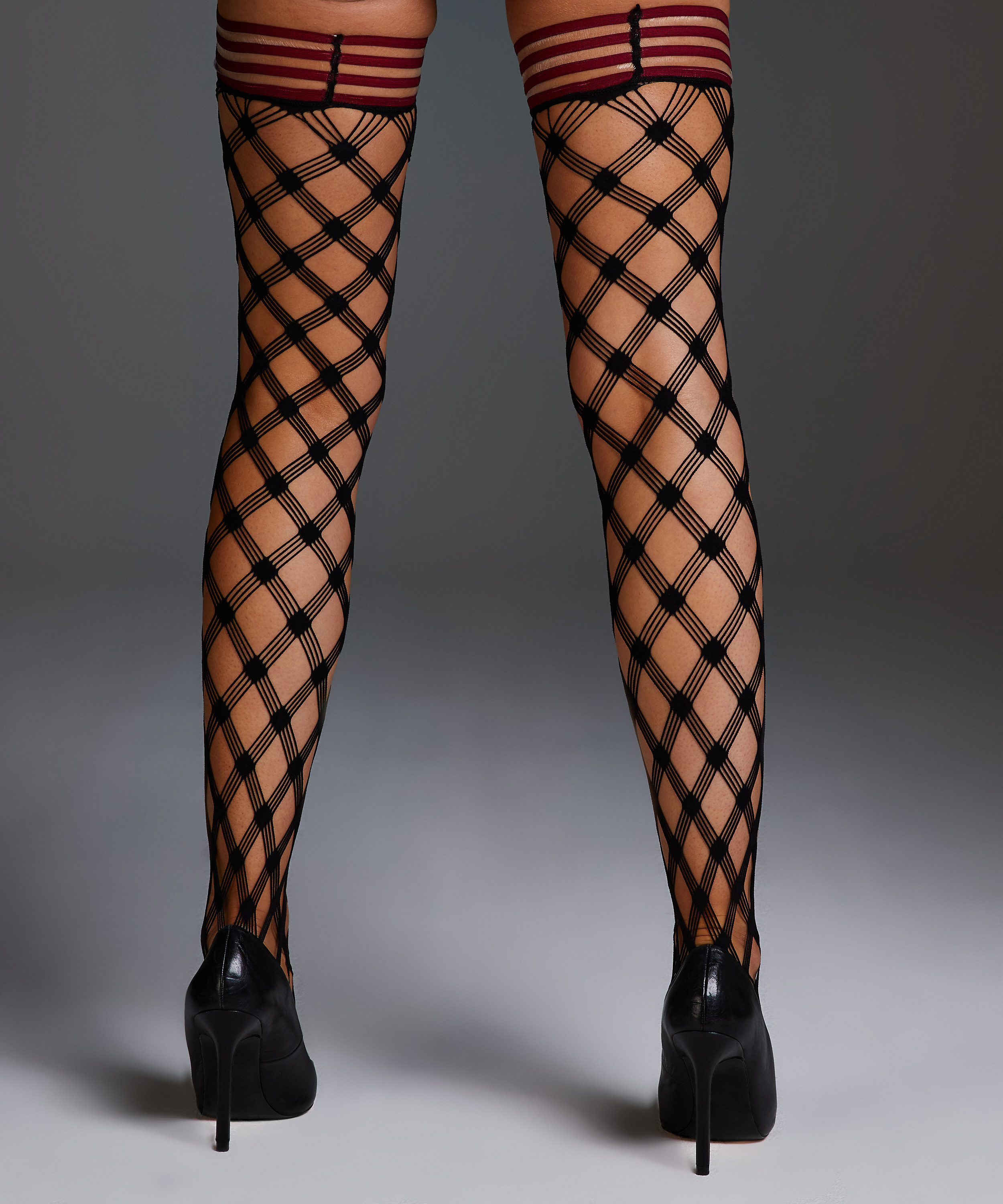 Private Fishnet hold-ups Crystal, Red, main