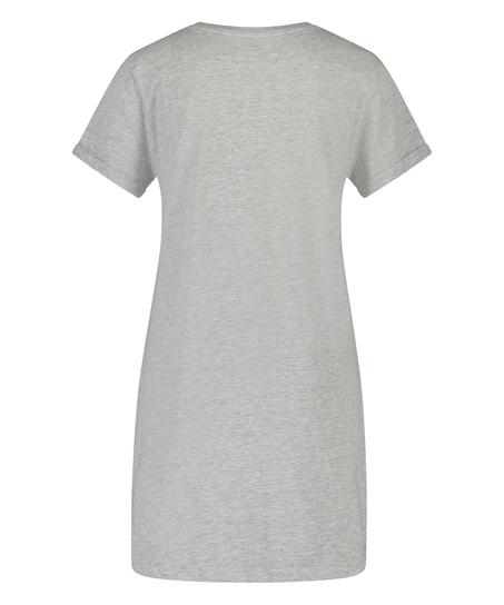 Round Neck Nightshirt , Grey