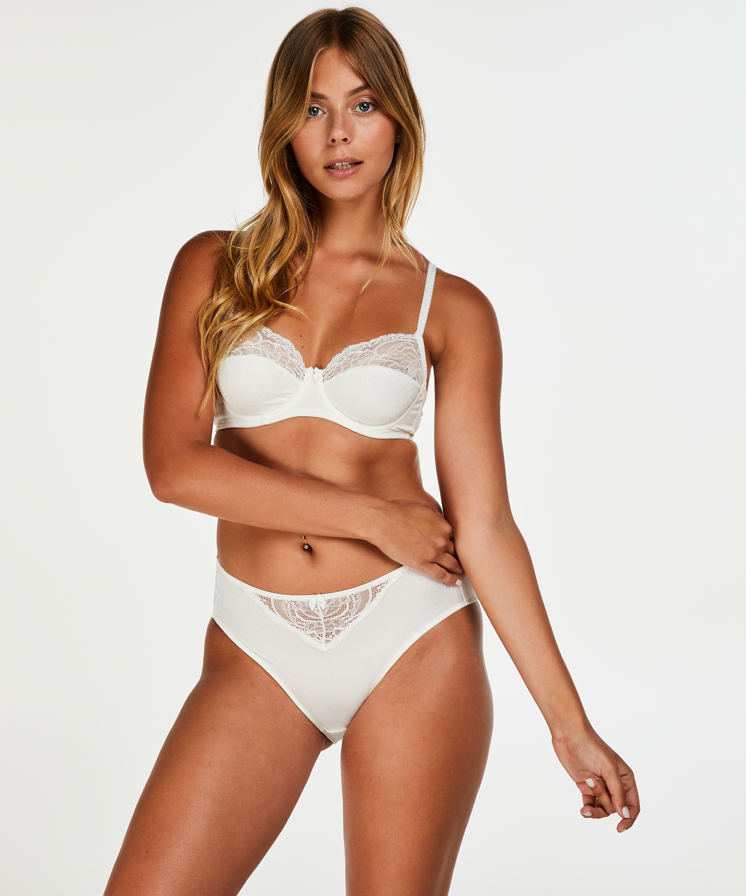 Sophie high knickers, White, main