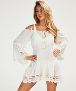 Lace Trim tunic, White