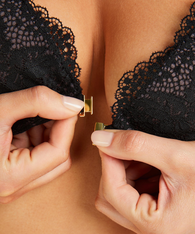 Raine padded underwired push-up bra, Black, main