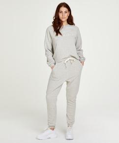 Brushed Back Sweat Petite Jogging Pants, Grey