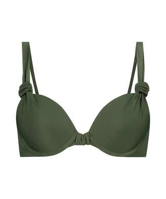 Padded underwired bikini top Luxe Cup E +, Green