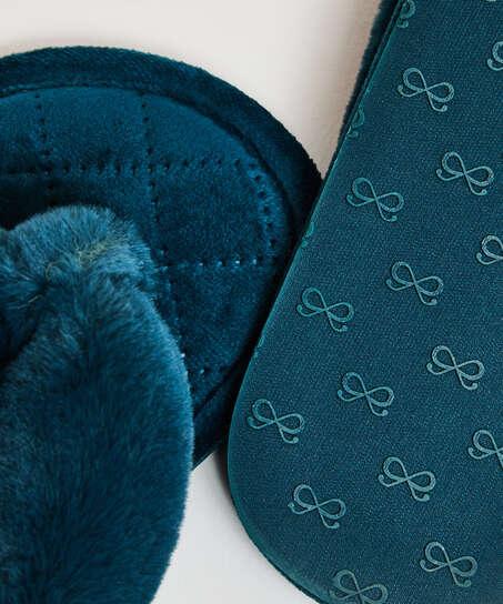 Fur Velours slippers, Green