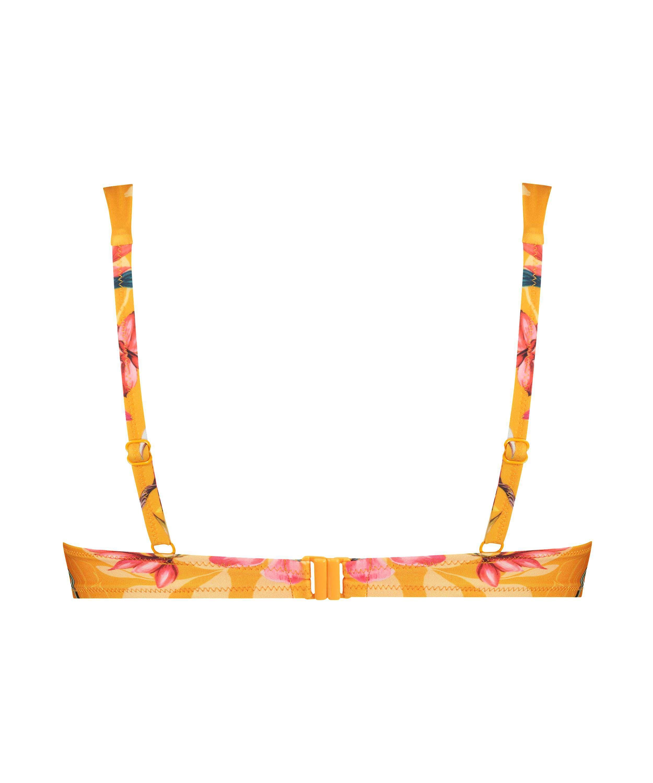 Orchid padded underwired bikini top, Yellow, main