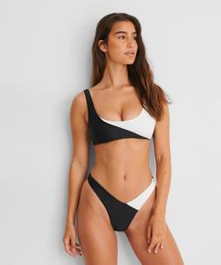 Bikini crop top 2Tone HKM x NA-KD, White
