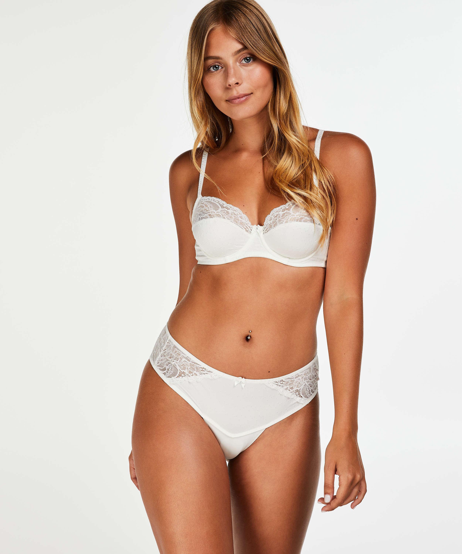 Sophie Non-Padded Underwired Bra, White, main