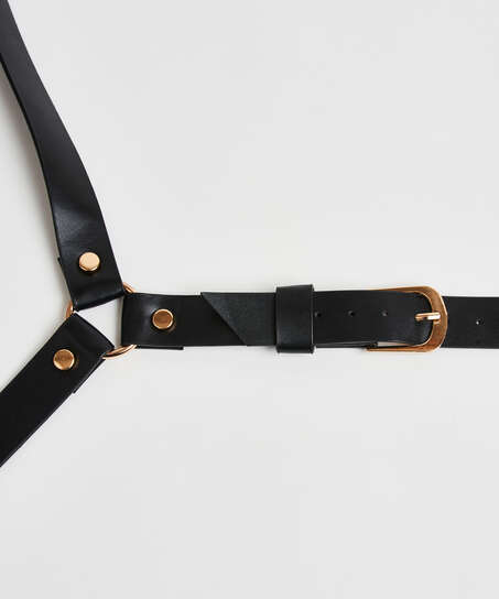 Private Body Harness Choker, Black