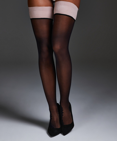 Noir Stay-up Delicate Lace, Pink