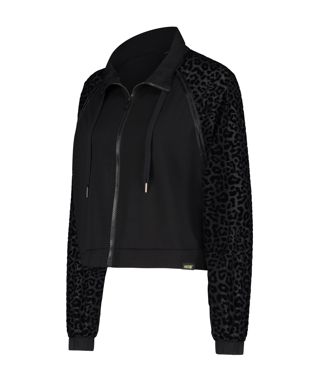 HKMX Leopard Jacket, Black, main