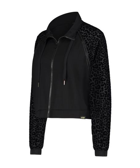 HKMX Leopard Jacket, Black
