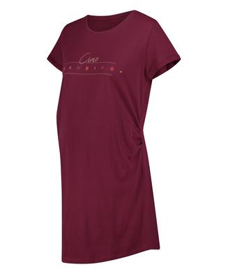 Short-Sleeved Maternity Nightshirt, Red