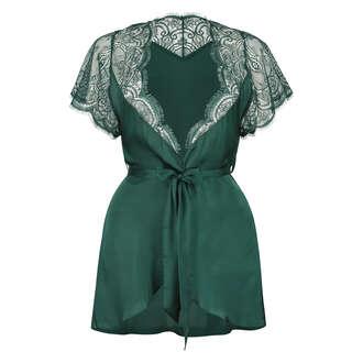 Cap Sleeve Kimono, Green