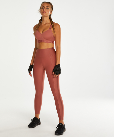 HKMX High waisted sports leggings Shine On, Pink