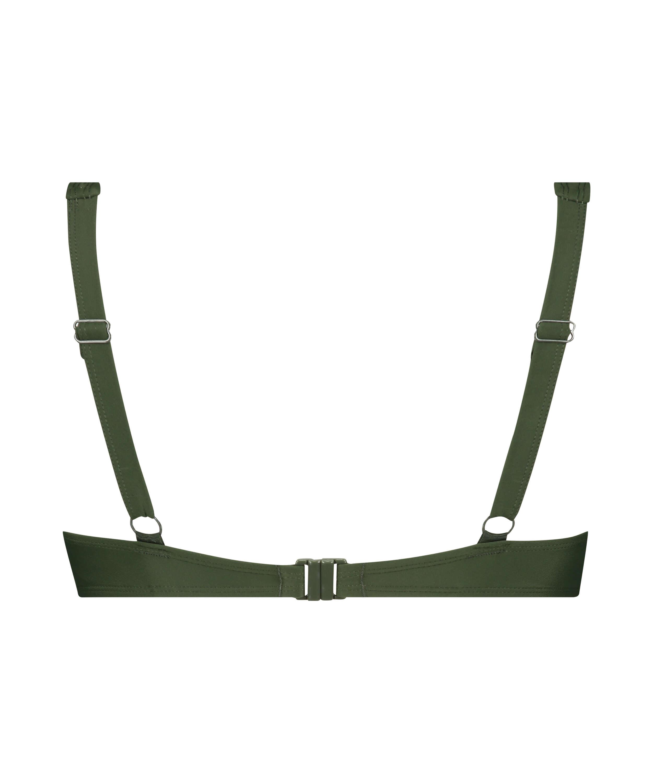 Luxe non-padded bikini top , Green, main
