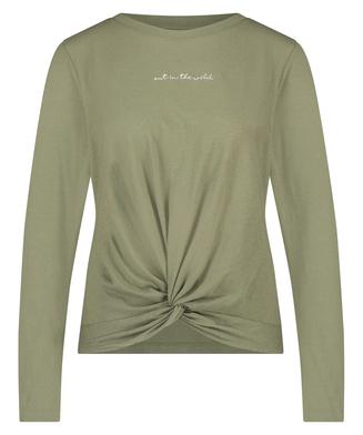 Long sleeve top Jersey Knot, Green