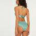 SoCal padded push-up underwired bikini top, Green