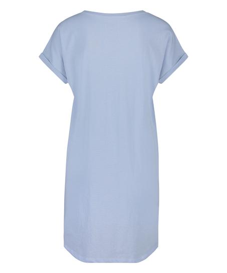 Round Neck Nightshirt , Blue