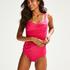 Rio Deluxe High Waisted Bikini Bottoms, Pink