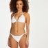 Maldives triangle bikini top, White