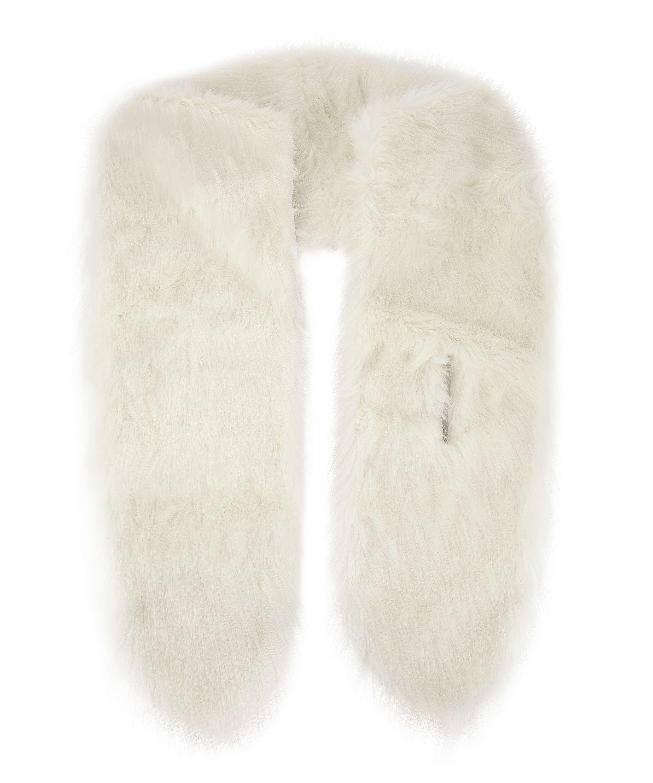Faux Fur Stole, White, main