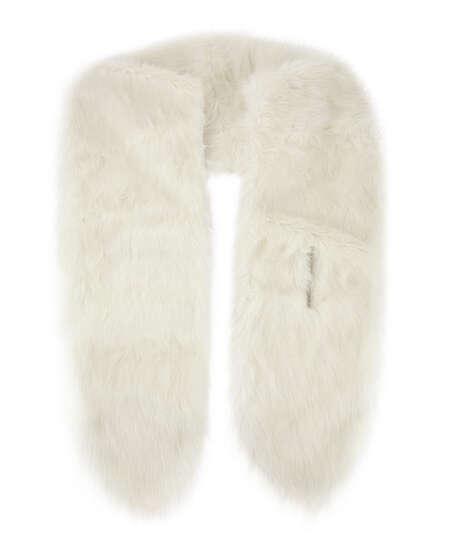 Faux Fur Stole, White