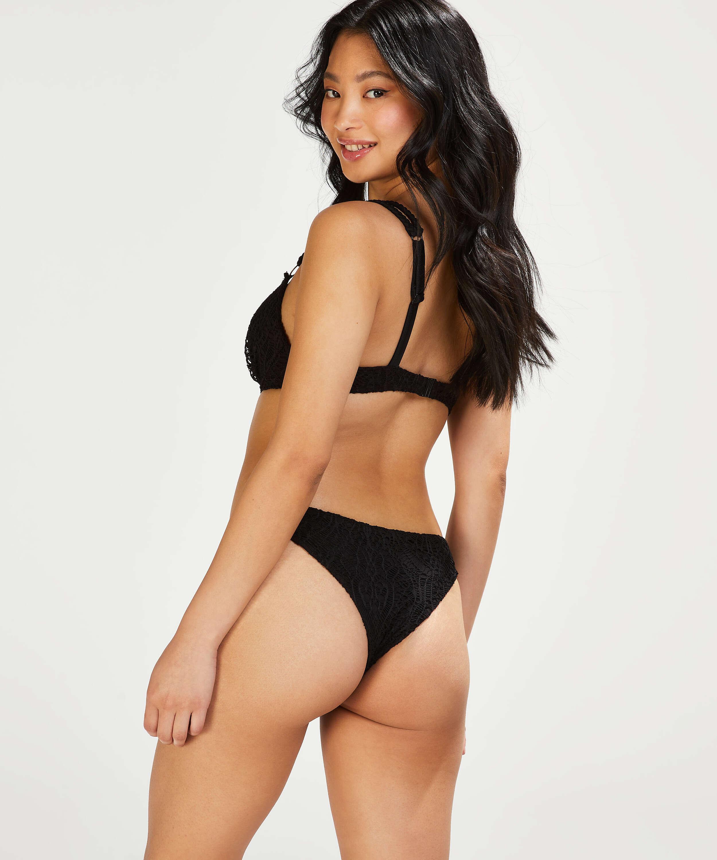 Crochet Brazilian bikini bottoms, Black, main