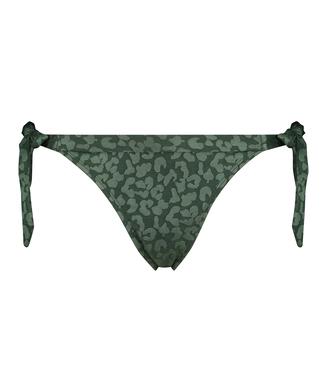 Tonal Leo Brazilian bikini bottoms, Green