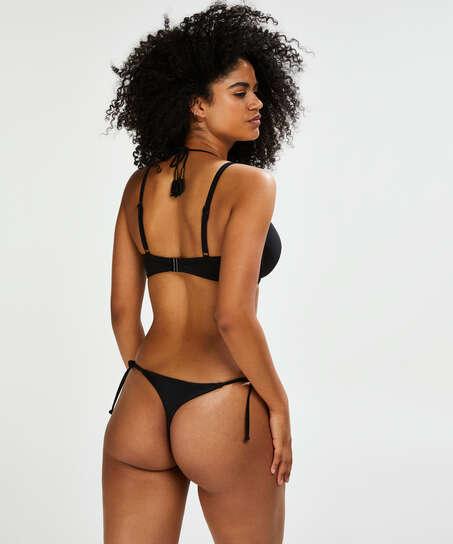 Sunset Dream Thong Bikini Bottoms, Black