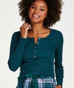 Long-Sleeved Pyjama Top , Blue