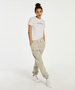 Jersey pyjama top short sleeves, White