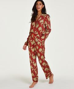Tall Woven pyjama bottoms, Pink