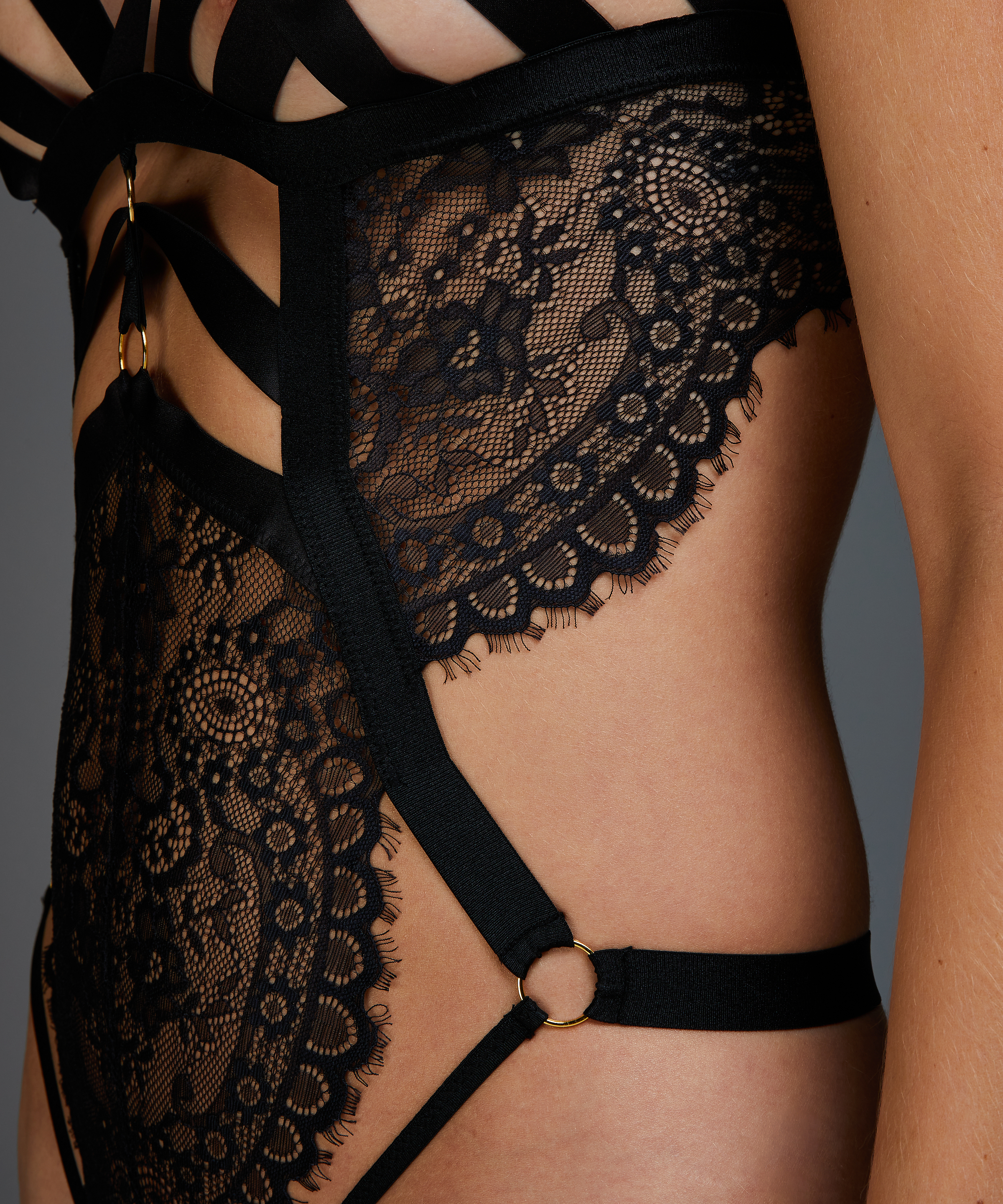 Ginger Open Crotch Body, Black, main