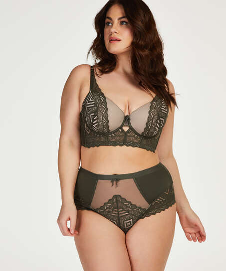 Rabella padded longline underwired bra I AM Danielle, Green