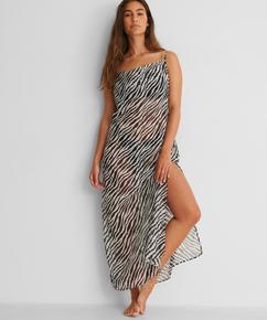 Midi beach dress Animal HKM x NA-KD, White