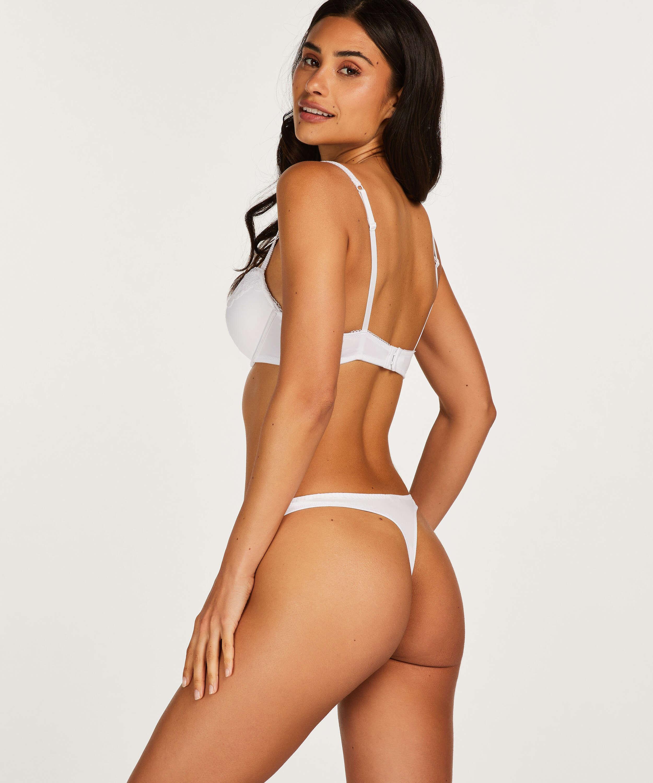 Secret Lace Thong, White, main
