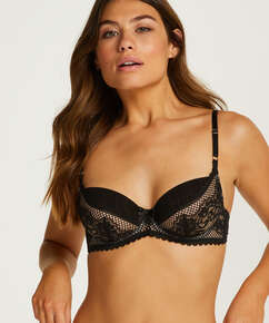 Malika Non-Padded Underwired Bra, Black