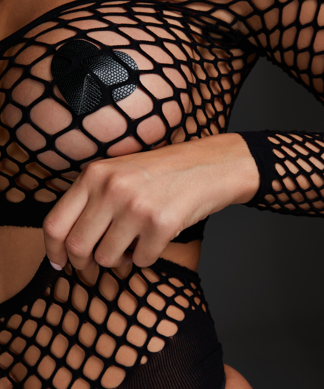 Private Fishnet Set, Black, main