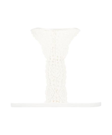 Rose Padded Triangle Bralette, White