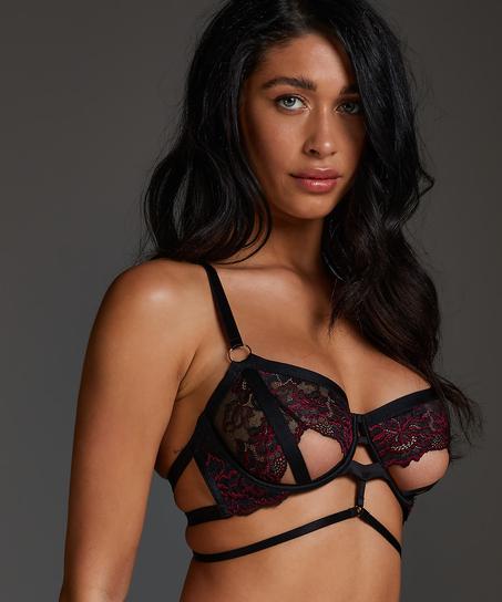 Piper non-padded underwired bra, Black