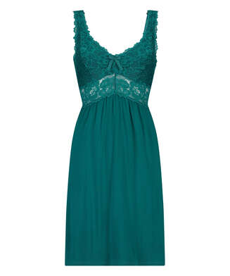 Modal Lace Slip Dress, Green