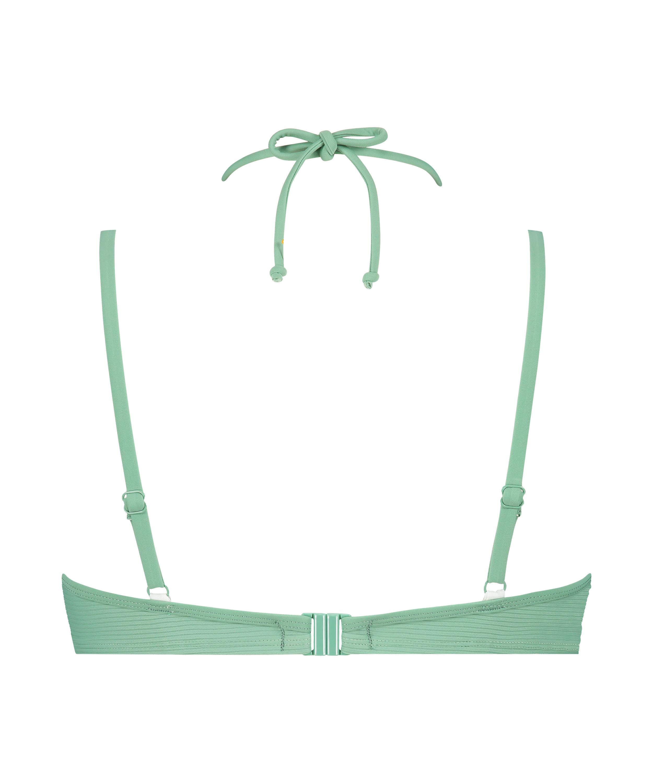 Sienna padded underwired bikini top, Green, main